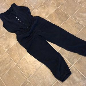 Zara Navy Jumpsuit
